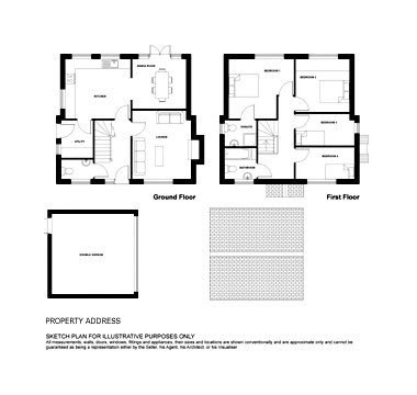 floor plan drawings for building services and estate agents
